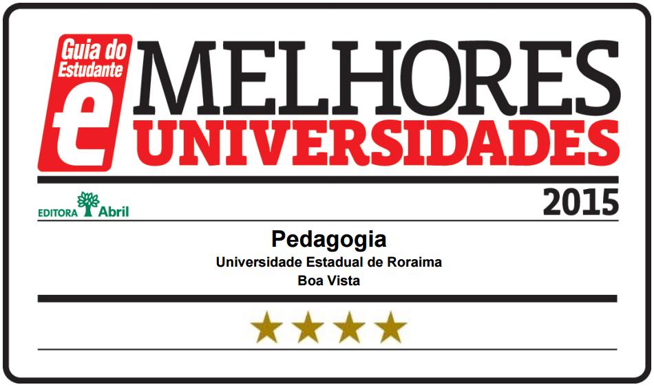 Curso de Pedagogia do campus Boa Vista recebe 4 estrelas do GE