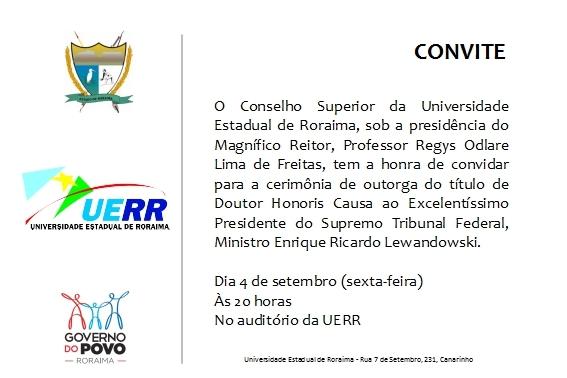 convite Doutor Honoris Causa