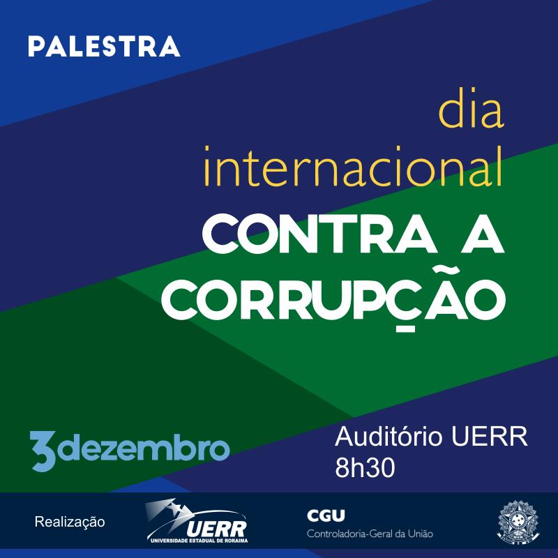Postagem Palestra Dia Internacional Contra a Corrupção
