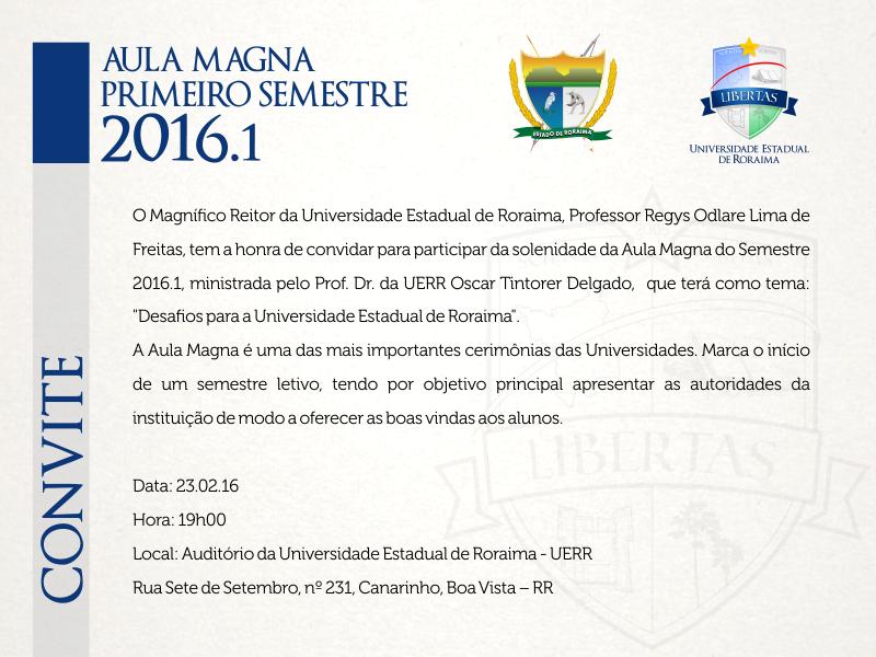 Convite Aula Magna