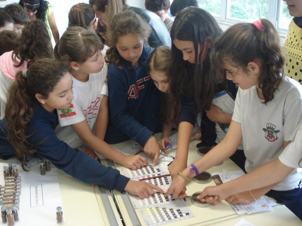 Projeto Cores do Solo (2015), uma das iniciativas já realizadas pela UFSC com alunos do Ensino Fundamental de Curitibanos.